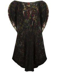 Issey Miyake   Black Pleated Dress   Lyst