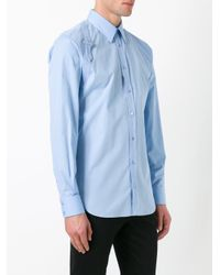 Alexander McQueen | Blue Harness Shirt for Men | Lyst