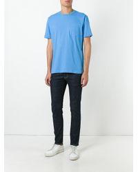 Sunspel   Blue Chest Pocket T-shirt for Men   Lyst