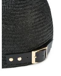 Sacai - Black - Straw Cap - Women - Straw - One Size - Lyst