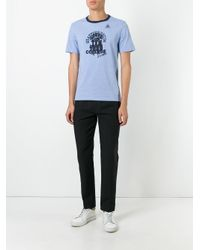 Maison Margiela - Blue Camp Print Ringer T-shirt for Men - Lyst