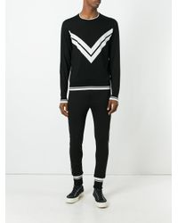 Dolce & Gabbana | Black Contrast Trim Track Pants for Men | Lyst