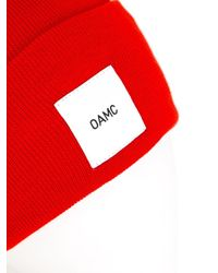 OAMC | Red - Logo Patch Beanie - Men - Cotton - One Size for Men | Lyst
