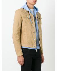 DSquared² Brown Classic Denim Jacket for men