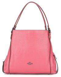 COACH - Pink Edie Shoulder Bag - Lyst