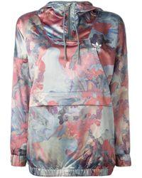 Adidas Originals - Blue - Pastel Camouflage Print Jacket - Women - Polyester/spandex/elastane - 38 - Lyst