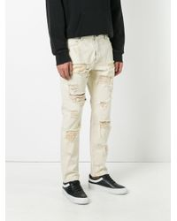 Palm Angels - Natural Ripped Regular Jeans for Men - Lyst