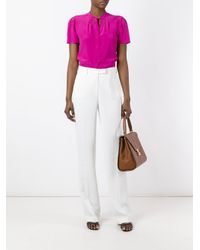 Etro - White High-waisted Trousers - Lyst