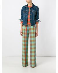 Etro - Multicolor - Checked Trousers - Women - Silk - 42 - Lyst