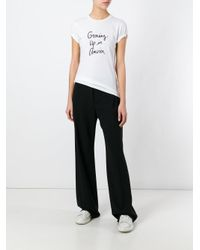 Bella Freud - White Growing Up In America T-shirt - Lyst