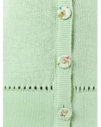 Etro - Green Button Up Cardigan - Lyst