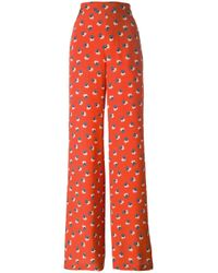 Etro | Red Printed Track Pants | Lyst