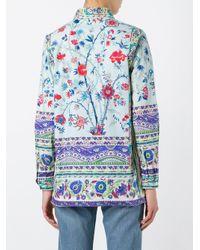 Etro | Blue Floral Print Shirt | Lyst