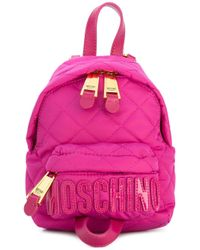 Moschino | Pink Mini Quilted Backpack | Lyst