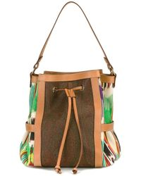 Etro | Brown Embroidered Trim Tote | Lyst