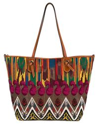 Etro | Multicolor Embroidered Detail Tote | Lyst