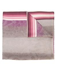 Etro - Brown - Abstract Print Scarf - Women - Silk/viscose - One Size - Lyst