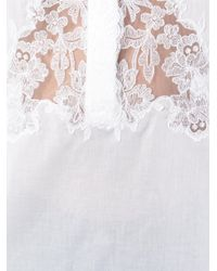 Ermanno Scervino - White Lace Detail Shirt - Lyst