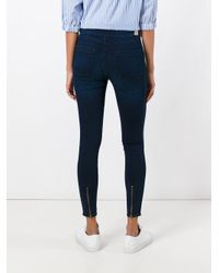 Twin Set - Blue Cropped Super Skinny Jeans - Lyst