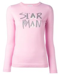 Bella Freud | Pink Star Man Jumper | Lyst
