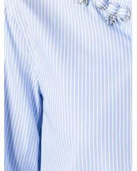 Ermanno Scervino - Blue Embellished Collar Shirt - Lyst