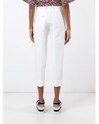 Marni | White Cropped Tailored Trousers | Lyst
