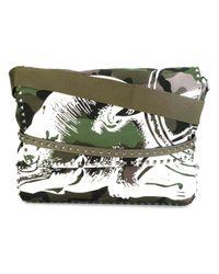 Valentino | Green Garavani Rockstud Messenger Bag for Men | Lyst