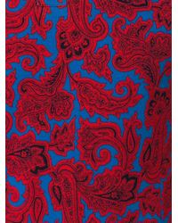 Etro | Red Allover Print Polo Shirt for Men | Lyst