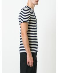 Etro | Blue Striped T-shirt for Men | Lyst