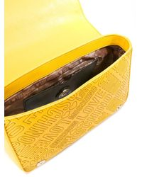Love Moschino - Yellow Logo Embossed Shoulder Bag - Lyst