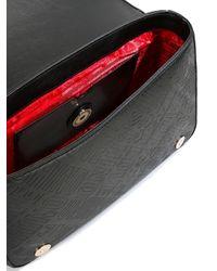 Love Moschino - Black Logo Embossed Shoulder Bag - Lyst