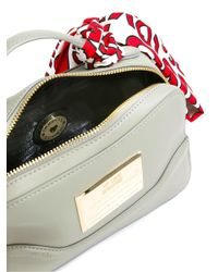 Love Moschino - Gray Scarf Detail Tote - Lyst