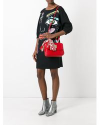 Love Moschino | Red Scarf Detail Tote | Lyst