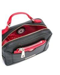 Love Moschino   Black Top Handle Crossbody Bag   Lyst
