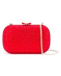 Love Moschino - Red Embellished Clutch - Lyst