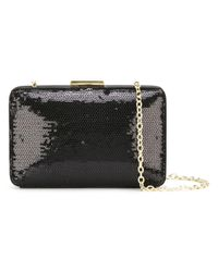 Love Moschino | Black Sequined Clutch | Lyst
