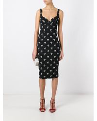 Victoria Beckham - Black Daisy Dress - Lyst