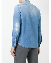 Dondup | Blue Deo Shirt for Men | Lyst