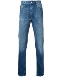 Alexander McQueen   Blue Straight-leg Jeans for Men   Lyst