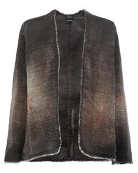 Avant Toi - Brown Open Fitted Jacket - Lyst