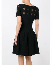Alaïa - Black Alaïa Glitter Detail Flared Dress - Lyst