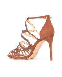 Alexandre Birman - Brown Strappy Sandals - Lyst