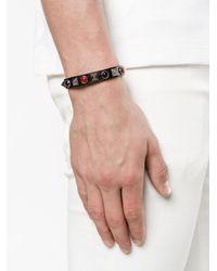 Valentino - Black Garavani Rockstud Rolling Bracelet for Men - Lyst
