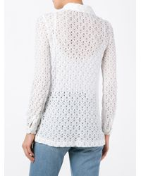 Missoni - White Open Knit Shirt - Lyst
