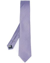 Canali | Purple Woven Silk Tie for Men | Lyst