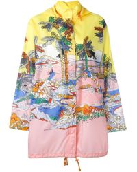 Emilio Pucci | Multicolor River Print Hooded Jacket | Lyst