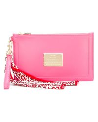 Love Moschino - Pink - Scarf Detail Clutch - Women - Polyurethane - One Size - Lyst