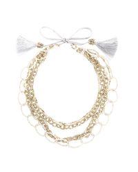 Night Market | Multicolor Long Beaded Loop Necklace | Lyst