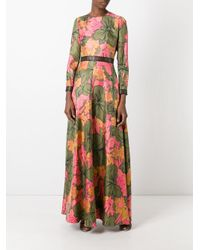 ROKSANDA - Green Floral Maxi Dress - Lyst