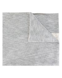 DIESEL   Gray - Intarsia Detail Scarf - Men - Cotton/polyester - One Size for Men   Lyst